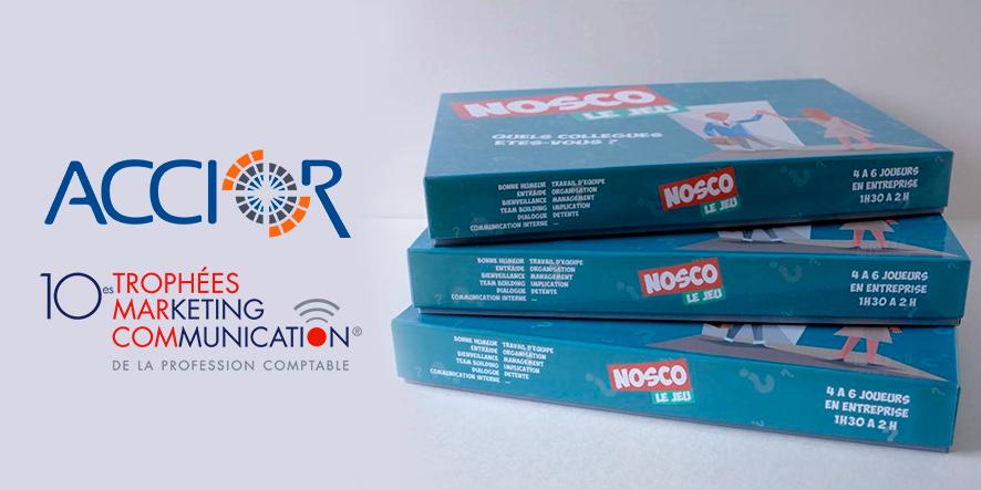 NOSCO jeu de société créé par Accior | cabinet comptable aux Sables d'Olonne et à La Roche sur Yon