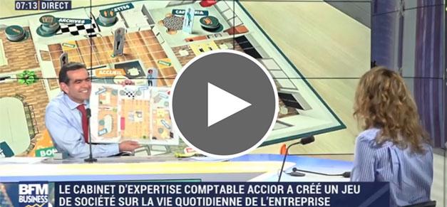 NOSCO, jeu de société créé par ACCIOR - interview de Priscillia Barbeau sur BMF Business   cabinet comptable aux Sables d'Olonne et à La Roche sur Yon