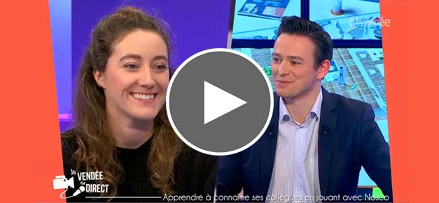 NOSCO, jeu de société créé par ACCIOR - interview de Priscillia Barbeau sur TV Vendée   cabinet comptable aux Sables d'Olonne et à La Roche sur Yon