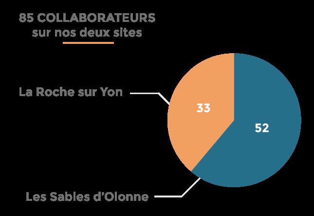Recrutement - répartition de nos équipes par site | cabinet comptable aux Sables d'Olonne et à La Roche-sur-Yon